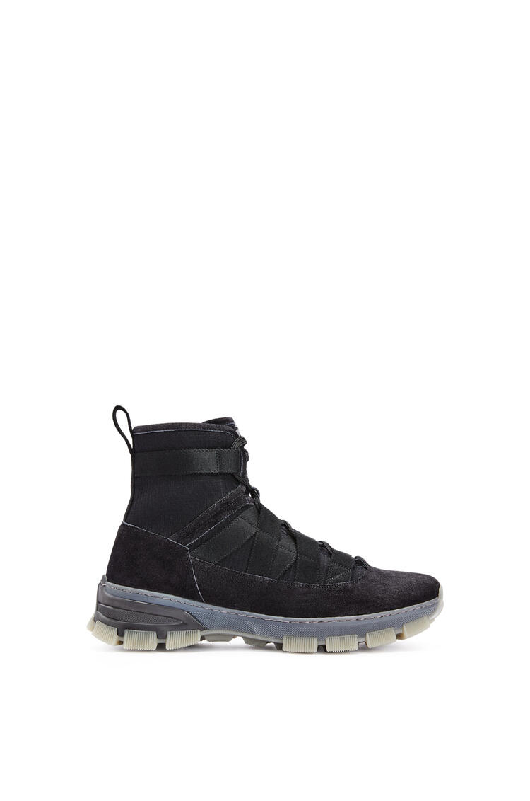 LOEWE Army boot in split calfskin Black pdp_rd