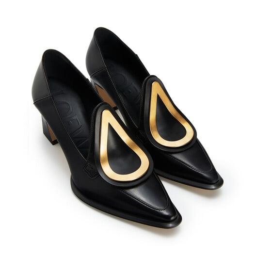 LOEWE Heel Loafer Drop 70 ブラック front