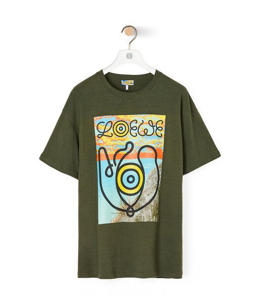 LOEWE Eln T-Shirt Khaki Green front