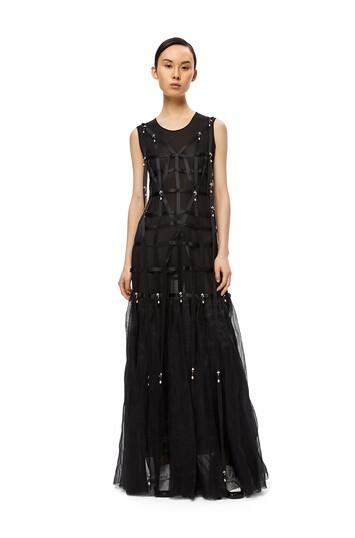 LOEWE Dress Pearls Negro front