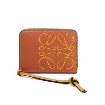 LOEWE 6 Card Zip Wallet Brand Bronceado/Ocre front