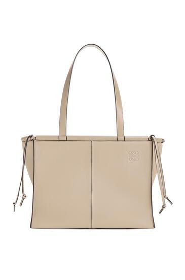 LOEWE Cushion Tote Bag In Soft Grained Calfskin Light Oat pdp_rd