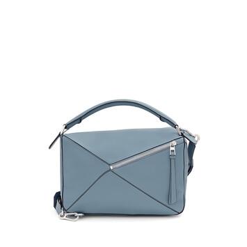 LOEWE Bolso Puzzle Azul Piedra front