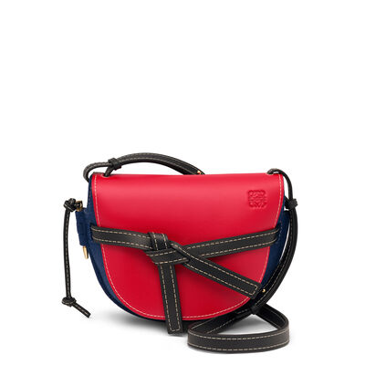 LOEWE ゲート スモール バッグ Royal Blue/Primary Red/Midn Bl front