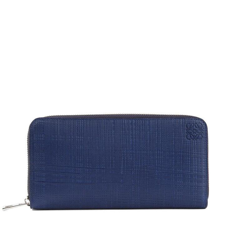 LOEWE Zip around wallet in calfskin Navy Blue pdp_rd