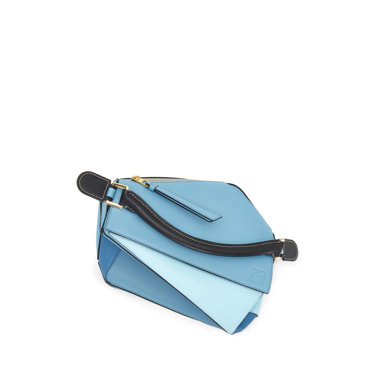 LOEWE Puzzle Small Bag Light Blue/Aqua front