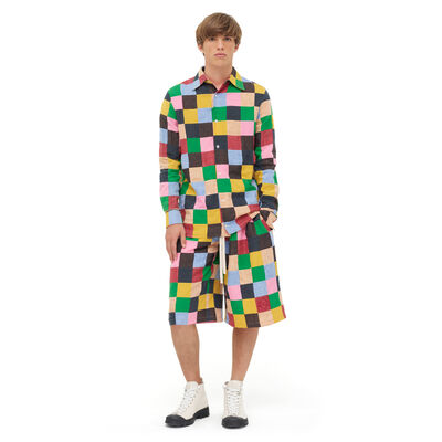 LOEWE Shirt Patchwork Multicolor front