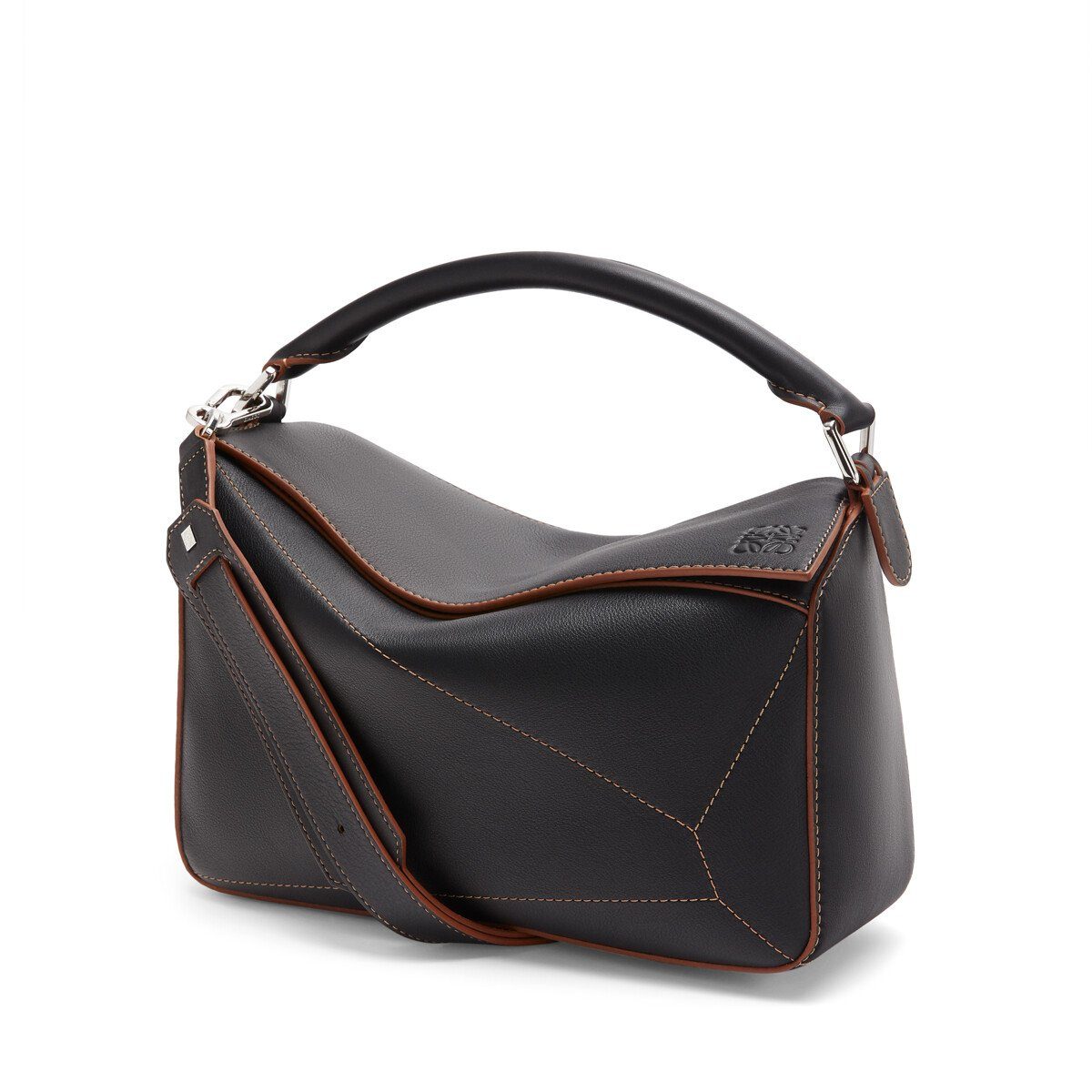 LOEWE Bolso Puzzle Soft Negro front