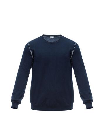 LOEWE Blanket Stitch Sweater Navy Blue front