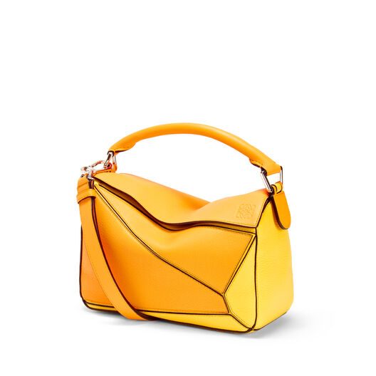 LOEWE Puzzle Small Bag Mandarin/Yellow front