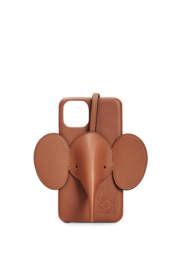 LOEWE Elephant cover for iPhone 11 Pro in classic calfskin Tan pdp_rd