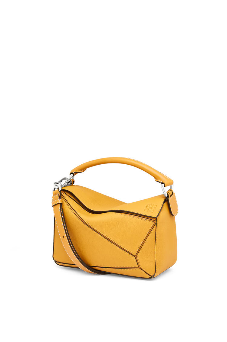 LOEWE Small Puzzle bag in soft grained calfskin Narcisus Yellow pdp_rd