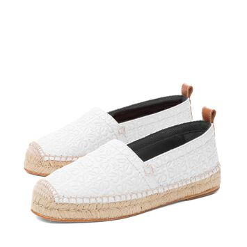 LOEWE Espadrille Repeat White front