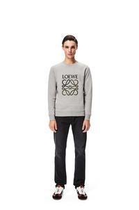 LOEWE LOEWE Anagram embroidered sweatshirt in cotton Grey Melange pdp_rd
