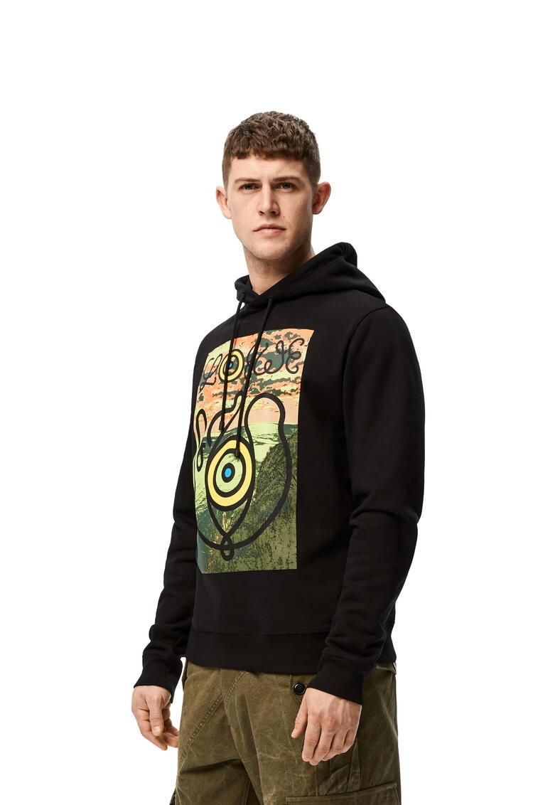 LOEWE Print hoodie in cotton Black pdp_rd