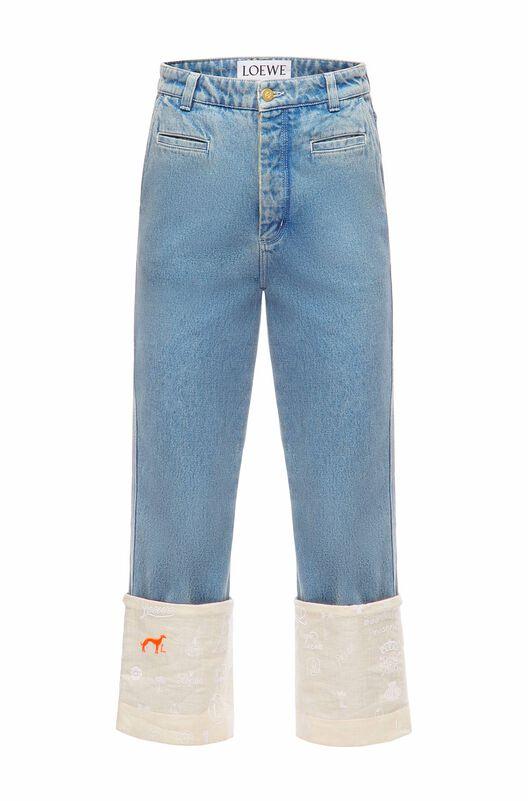 LOEWE Fisherman Jeans Logos Indigo front