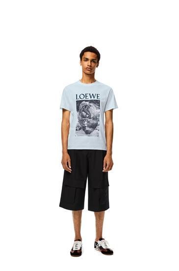 LOEWE Ken Heyman T-shirt In Cotton Baby Blue pdp_rd