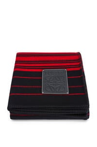 LOEWE Stripes blanket in wool and cashmere Black/Red pdp_rd