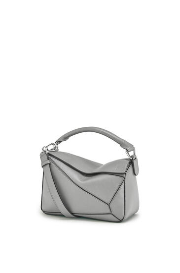 LOEWE Small Puzzle bag in pearlized calfskin Gunmetal pdp_rd
