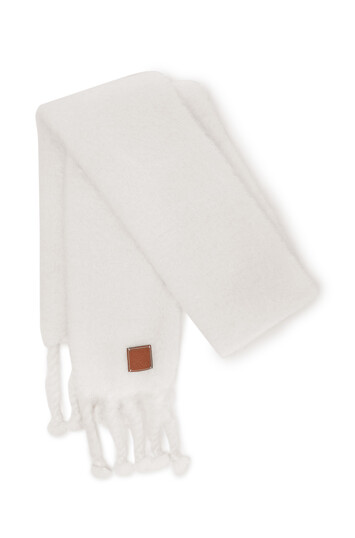 LOEWE 45X230 Scarf Plain White front