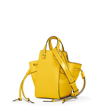 LOEWE Hammock Drawstring Mini Bag 黄色 front