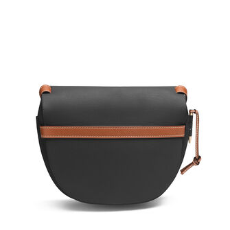 LOEWE ゲートバッグ Black/Pecan Color front