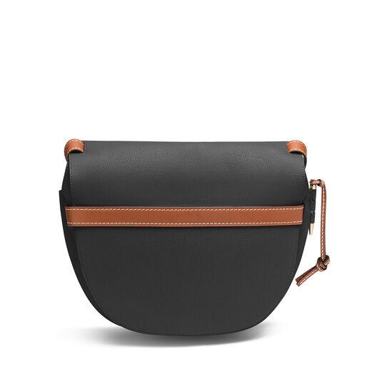LOEWE Gate Bag Black/Pecan Color front