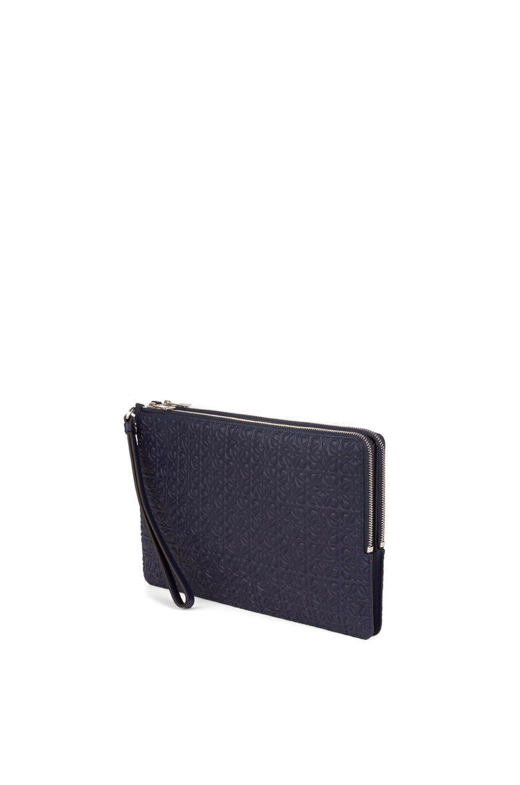 LOEWE Double flat pouch in calfskin Marine pdp_rd