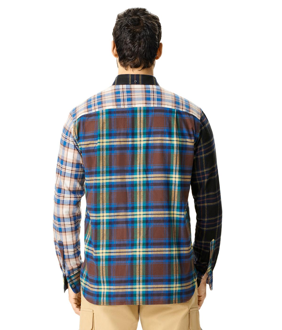 LOEWE Eln Patchwork Check Overshirt 多色拼接 front