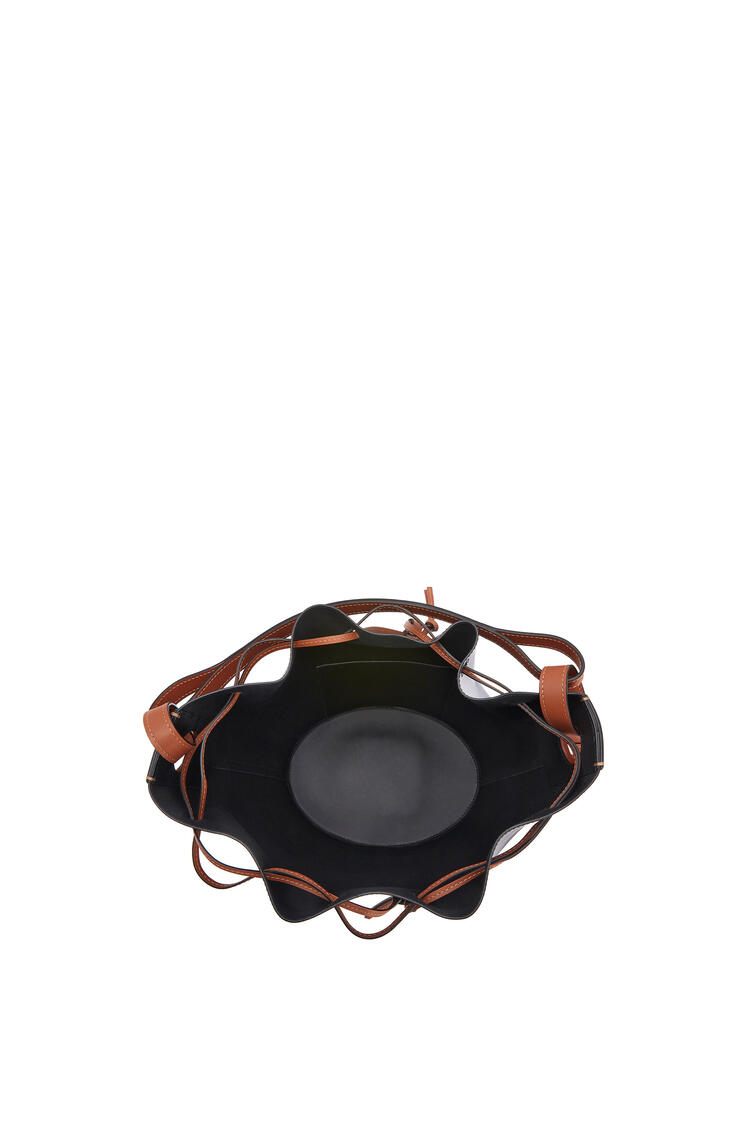 LOEWE Large Balloon bag in nappa calfskin Black/Tan pdp_rd