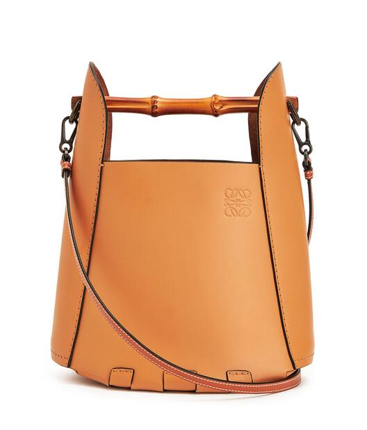 LOEWE Bamboo Bucket Bag Honey front