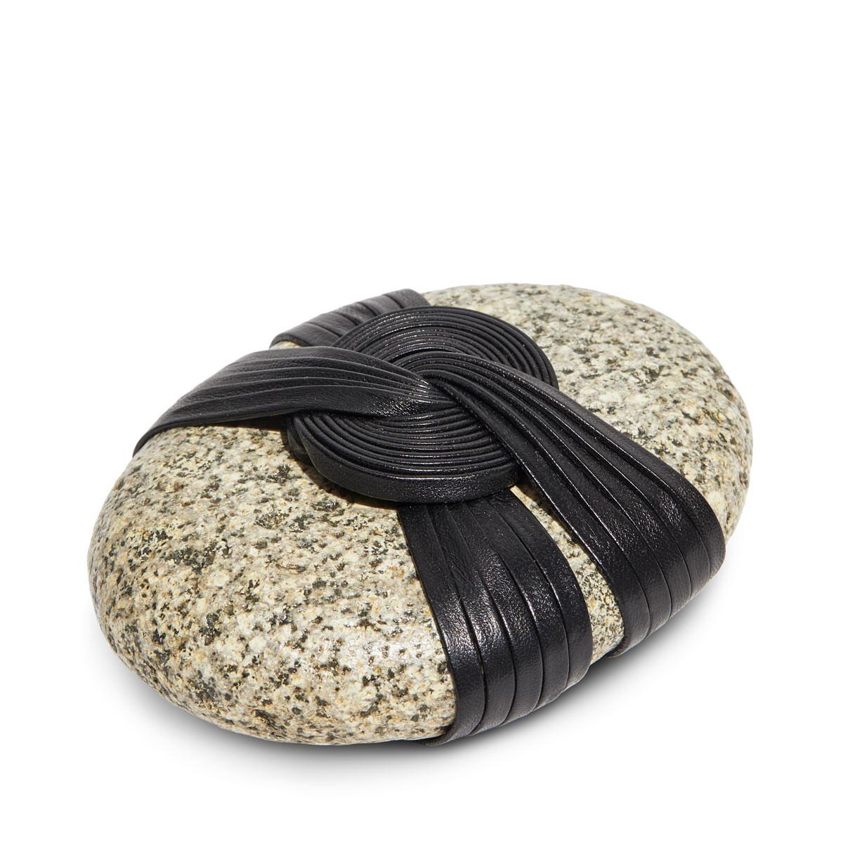 LOEWE Cho Knot Stone Black front