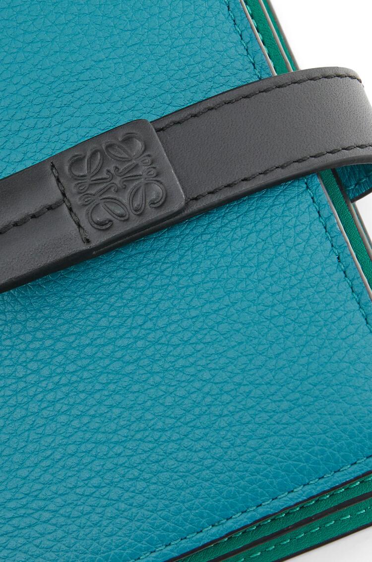 LOEWE Compact Zip Wallet In Soft Grained Calfskin Dark Lagoon pdp_rd