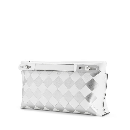 LOEWE Missy Checks Small Bag White/Silver all