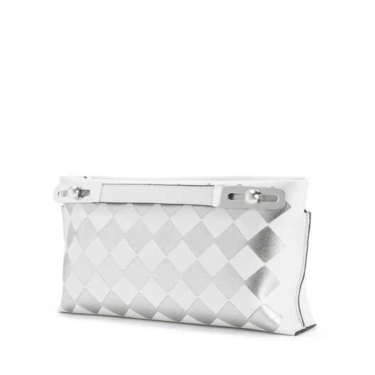 LOEWE ミッシーチェックスモールバッグ White/Silver all