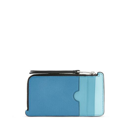 LOEWE Puzzle Coin/Card Holder Blue Multitone front