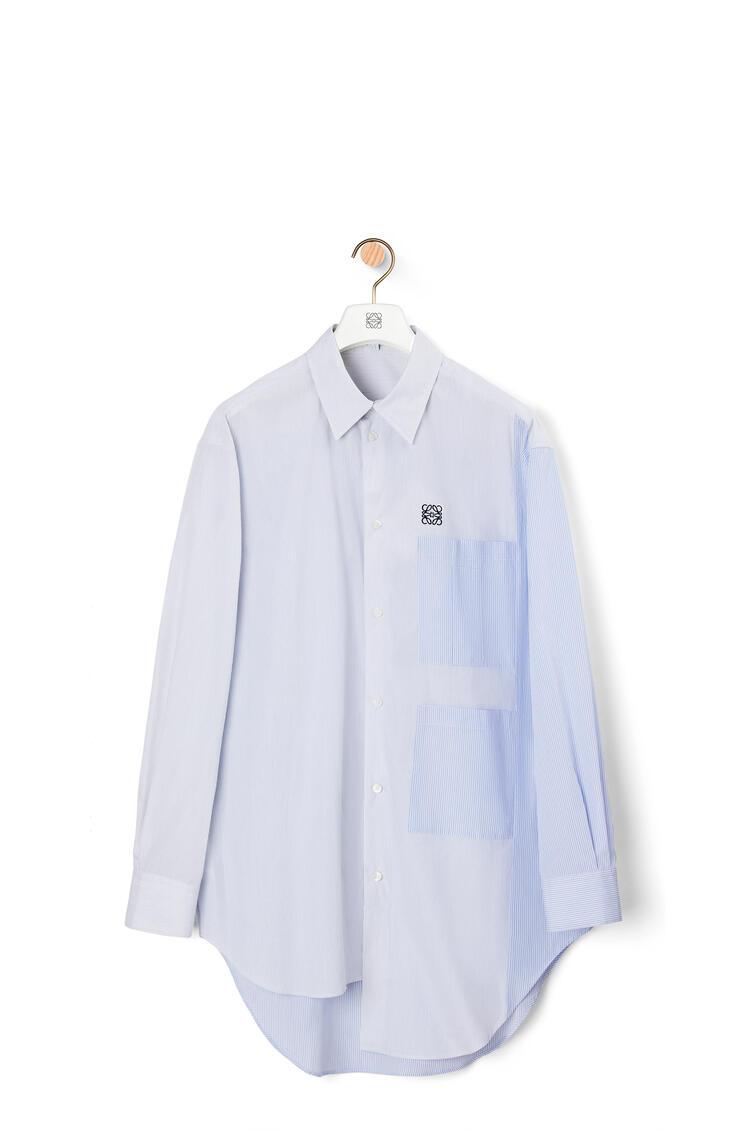 LOEWE 棉质多口袋不对称衬衫 White/Blue/Black pdp_rd