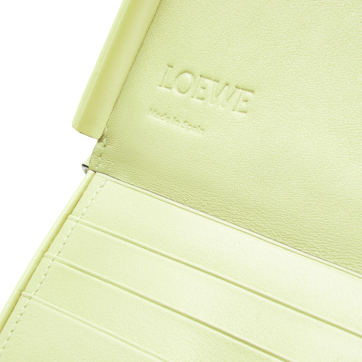 LOEWE Heel Pouch Small Pale Lime front