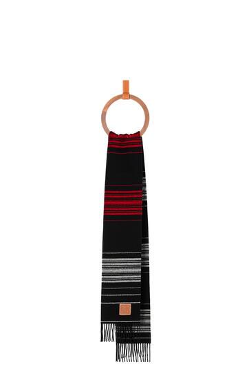 LOEWE 条纹羊毛羊绒围巾 Dark Blue/White pdp_rd