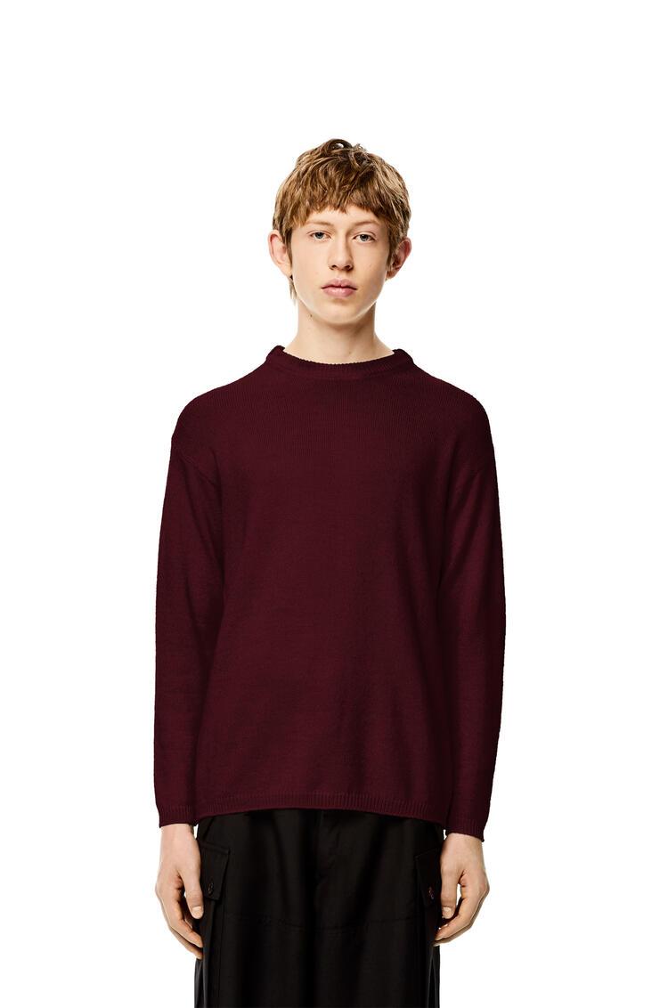 LOEWE Crewneck sweater in alpaca and wool Burgundy pdp_rd