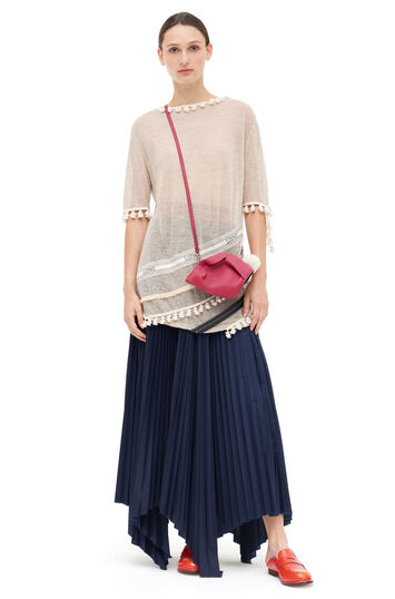 LOEWE Pleated Skirt Navy Blue front
