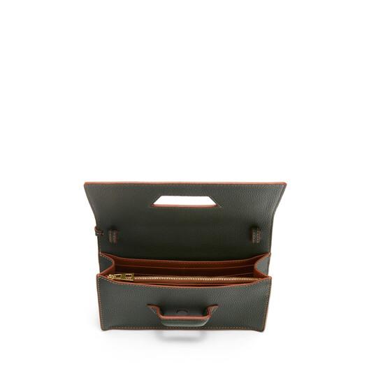LOEWE バルセロナ ソフト ミニ バッグ Vintage Khaki front