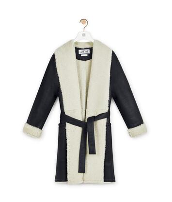 LOEWE Shearling Coat 黑色 front