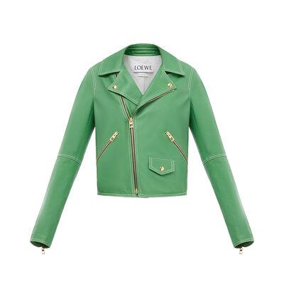 LOEWE Biker Jacket Italian Green front