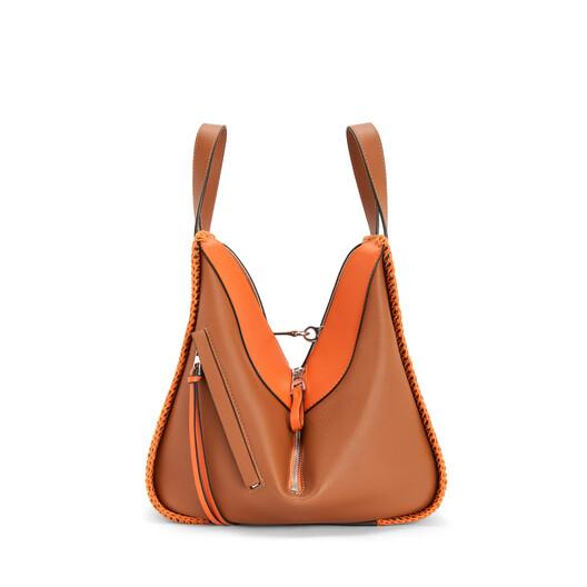 LOEWE ハンモックウィップステッチスモールバッグ Tan/Orange front