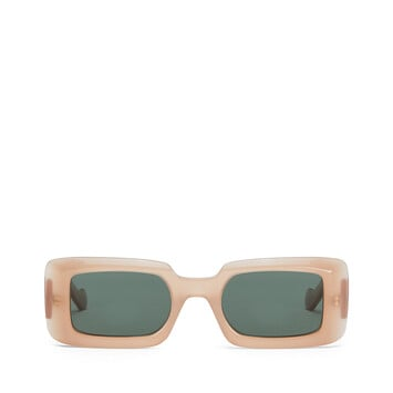 LOEWE Acetate Square Sunglasses Pink/Green Smoke front