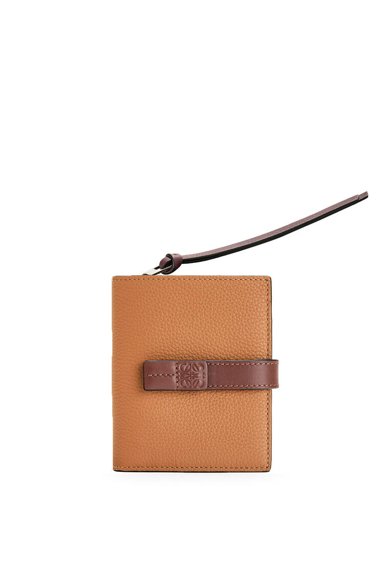 LOEWE Compact zip wallet in soft grained calfskin Light Caramel/Pecan pdp_rd