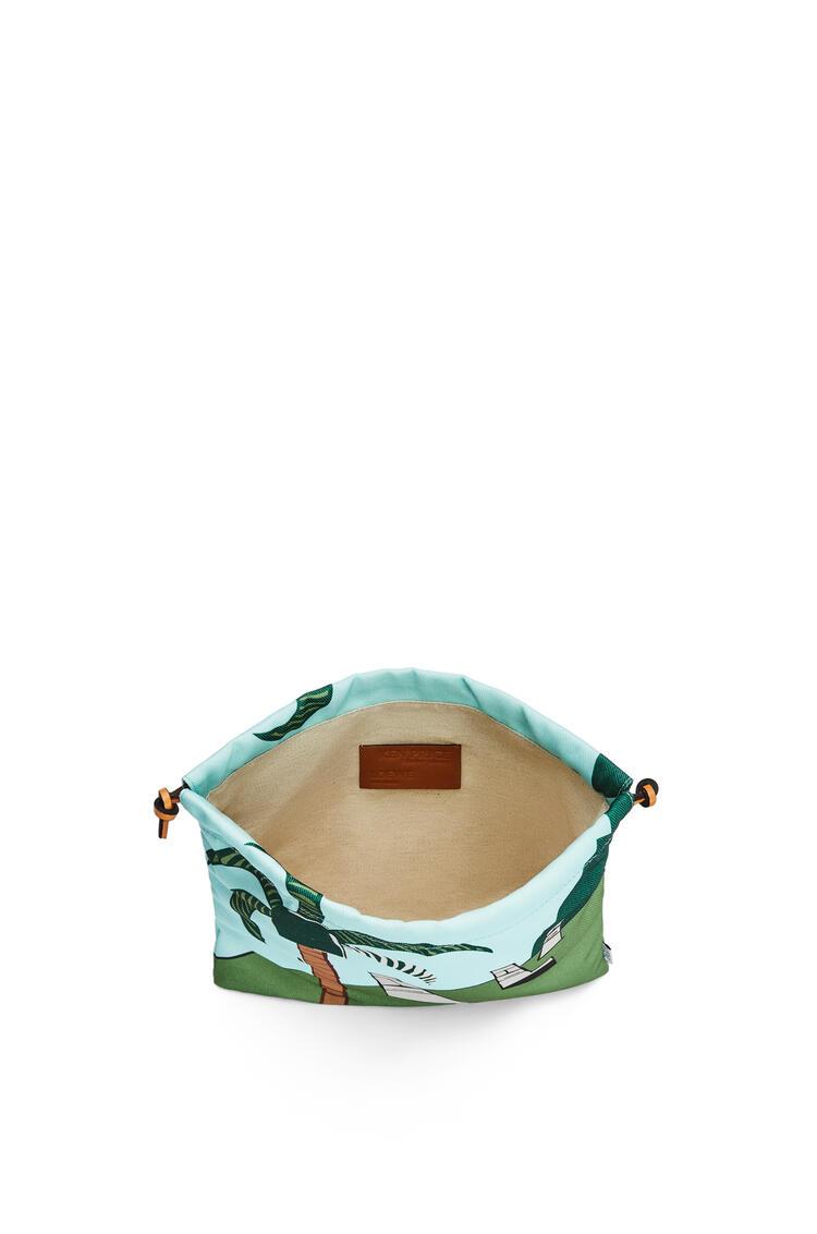 LOEWE イースター アイランド ドローストリング ポーチ スモール (キャンバス) Mint/Multicolor pdp_rd