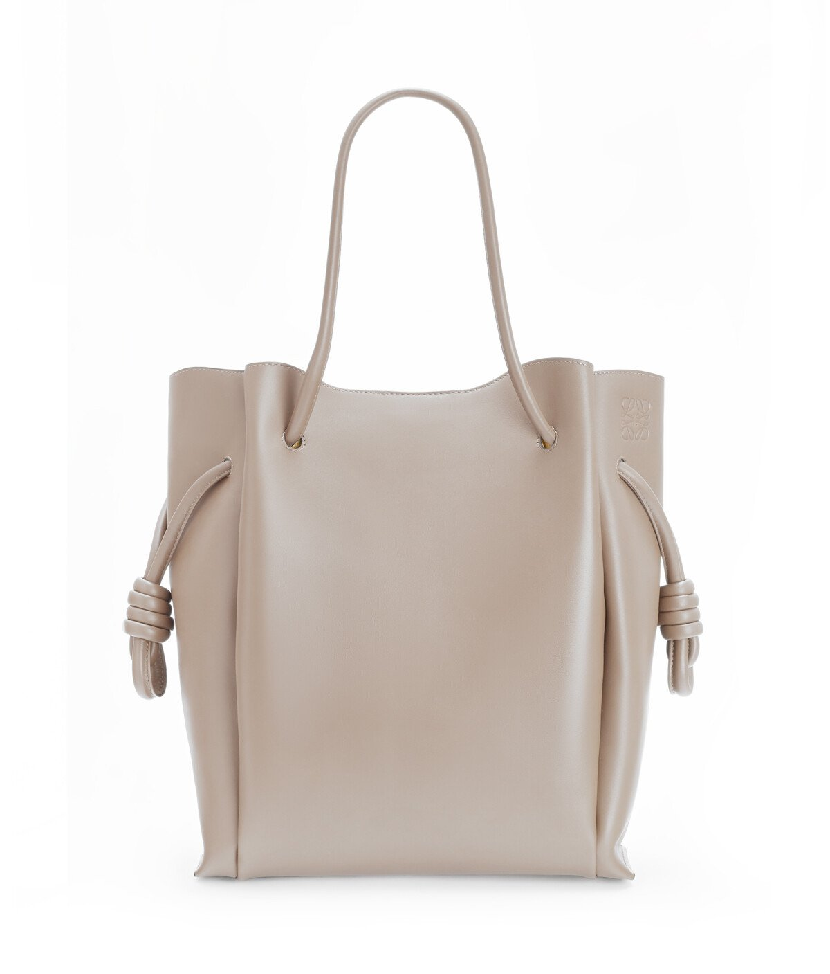 LOEWE Flamenco Knot Tote Light Grey front