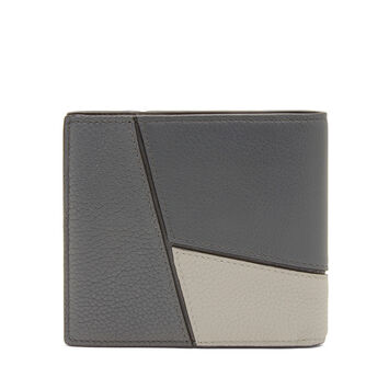 LOEWE Puzzle Bifold Wallet Grey Multitone front